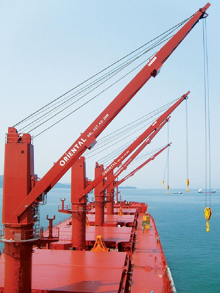 Cargo Ship Engine Room: Oriental Offshore Cranes